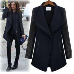 Women's brown Coat OL style suit Coat Long Coat Long jacket ...