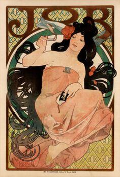 iconic Mucha poster