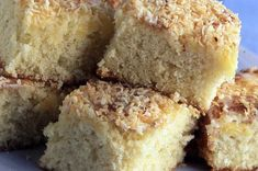 Give your home baking an exotic tropical flavour with these moist and moreish sponge squares. You can use butter or soft margarine, but I find slightly salted or unsalted butter gives the best flavour.