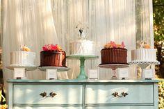 pretty cake display   Kassie Moore #wedding