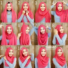 Gorgeous Easy Pink Hijab Tutorial - Hijab Fashion Inspiration This is a very ea. Gorgeous Easy Pink Hijab Tutorial – Hijab Fashion Inspiration This is a very ea… Gorgeous Eas Square Hijab Tutorial, Simple Hijab Tutorial, Hijab Simple, Hijab Style Tutorial, Muslim Dress, Hijab Dress, Hijab Outfit, Turban Hijab, Muslim Women Fashion