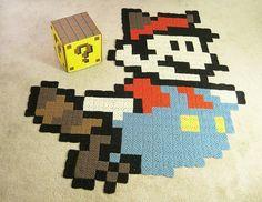 Raccoon Mario Rug and ? Block Ottoman | Community Post: 21 Nerdalicious Nintendo Tributes