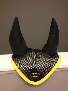 DAPPLE GREY MARE DESIGNS: HORSE EAR BONNET - BATMAN