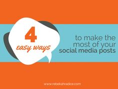 easy ways social media posts