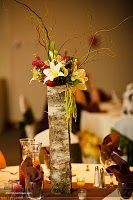 DIY Birch bark vase tutorial: how to form and adhere birch bark to a glass vase.