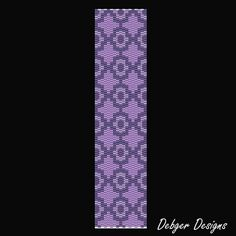 Lavender Love Beaded Peyote Bracelet Cuff by FUNPATTERNDESIGNS