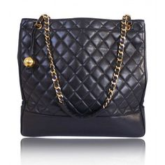6563191904e4 Chanel Black Lambskin Shopping Tote Bag With Golden Ball  handbags   clutches Chanel Shopping Tote