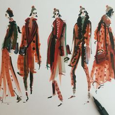 Jeanette Getrost  #illustration #fashionillustration #inspiration