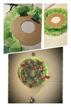 wreaths for front door, christmas, paper, DIY