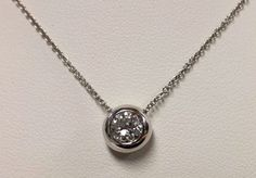 14k White Gold .73ct Diamond Pendant #Pendant #necklace #diamond #whitegold #gold #jewelry