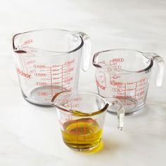 Anchor Hocking Glass Measuring Cups from Williams Sonoma. Saved to Apartment. Shop more products from Williams Sonoma on Wanelo. Liquid Measuring Cup, La Cornue, Williams Sonoma, Kitchenaid Artisan, American Kitchen, Kitchen Gadgets, Kitchen Tools, Kitchen Utensils, Decorating Kitchen
