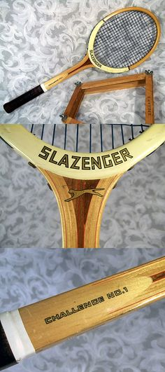 Sold Vintage 1975 SLAZENGER CHALLENGE NO.1 Wooden Tennis Racket Made in ENGLAND