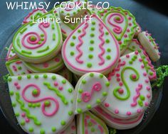 Decorated Alphabet Letter Cookies | paisley cookies cookies random sugar cookies pretty cookies cookies ...