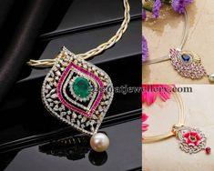 Jewellery Designs: Classic Diamond Lockets by AVR Swarnamahal