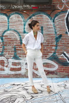 ways to wear Gucci loafers: outfit #2 -  mens white blouse (Land's End)…