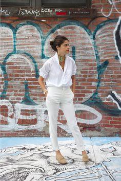 Look todo blanco, ideal, perfecto... #blanco #look