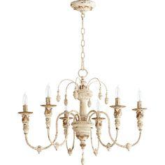 Quorum International Salento Persian White 25 Inch Six Light Chandelier On SALE