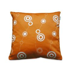 This orange pillow is sure to brighten up any old chair, couch, or bed!