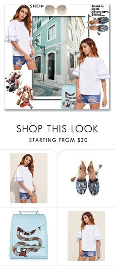 """""""Adventure time"""" by tattooedmum on Polyvore featuring Aquazzura, Chloé, contestentry and shein"""