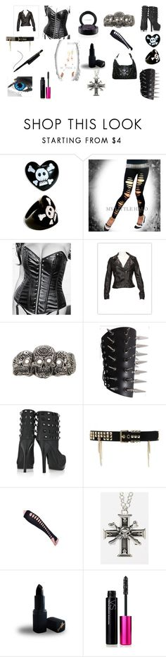 """""""hottzz"""" by botdf ❤ liked on Polyvore featuring Thomas Wylde, Temperley London, Femme Metale Jewelry, Barry M, Victoria's Secret, MAC Cosmetics and Vision"""