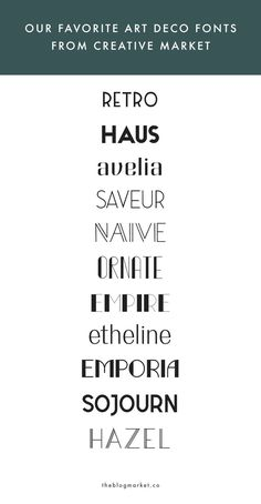 Our Favorite Art Deco Fonts from Creative Market Art Deco Typography, Art Deco Font, Font Art, Art Deco Design, Lettering, Fuente Art Deco, Creative Market Fonts, Art Deco Fashion, Bujo