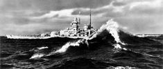 On 22 January 1941 the Scharnhorst and the Gneisenau made a second, this time successful, attempt to break out to the Atlantic. Here the Gneisenau can be seen in the Atlantic photographed from the Scharnhorst