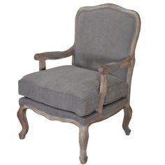 BIGGIE BEST - Jardien Armchair - grey upholstery- new
