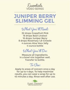 Essentials Video: Juniper Berry Slimming Gel DIY - Naturally Blended