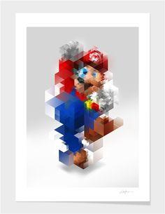 "Curioos.com   ""Super Mario "" by Nicola felasquez Felaco  Limited Edition  - Gallery Quality Art Print"
