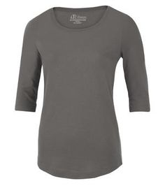 Love this new ladies T in 3/4 sleeve..great colours in grey, pacific blue, pink, white, navy and black to start...