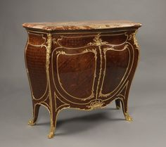 OnlineGalleries.com - A Rare and Important Louis XV Style Side Cabinet