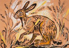 Mark Hearld at Yorkshire Sculpture Park Unique Paintings, Country Paintings, Linocut Prints, Art Prints, Yorkshire Sculpture Park, Glasgow School Of Art, Rabbit Art, Royal College Of Art, Pretty Art