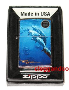 Zippo Lighter LE Boyce Dolphin Dolphins Windproof Lighter - NEW