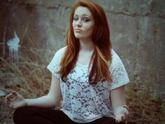 Red hair with blonde peekaboos and soft black undertone