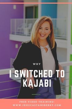 In this video Im going to tell you why I switched to Kajabi to host my online courses so if youre searching for what the best platform is or why you should use Kajabi, heres your video.