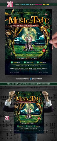 Music Tale Poster   Flyer