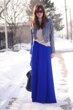 gonna lunga street style idee moda per l inverno