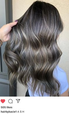 Long Wavy Ash-Brown Balayage - 20 Light Brown Hair Color Ideas for Your New Look - The Trending Hairstyle Brown Hair Shades, Brown Ombre Hair, Brown Hair Balayage, Bayalage, Brown Blonde Hair, Balayage Brunette, Light Brown Hair, Brown Hair Colors, Brunette Hair