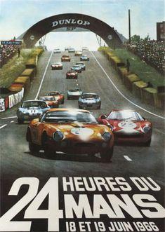 L'affiche des 24 heures du mans 1966