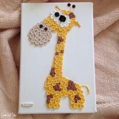 Gombíkový obraz - Žirafa Izidor
