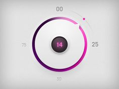 Volume Controller by Vsevolod Dimitrov #Mobile #UI #Digital