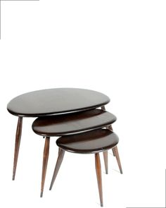 Table basse ronde gigognes sur mesure esprit vintage cr ation gentlemen de - Tables gigognes bois ...