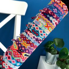 We have many beautiful sets in our webshop (bt-bracelets.nl) and in our Etsy shop! # present # bracelets . Diy Bracelets Patterns, Thread Bracelets, Embroidery Bracelets, Braided Bracelets, Ankle Bracelets, Loom Bracelets, Macrame Bracelets, Handmade Bracelets, Anklet Designs