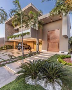 Modern Exterior House Designs, Dream House Exterior, Exterior Design, Modern House Facades, Modern Houses, Minimal House Design, Duplex House Design, Amazing Architecture, Modern Architecture