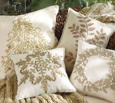 Holiday pillows that will go with the colors in my living room.