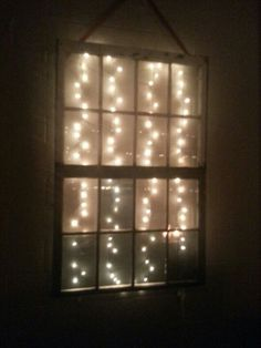 Old window with lights -- too many, but the idea is good