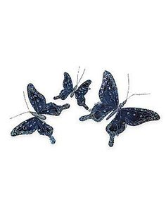 Katherine's Collection Butterfly Clips/Set Of 3 - No Color