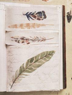 ≗ Feathered Nest of Hope ≗ bird feather & nest art jewelry & decor - feather art journal