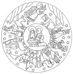 nativity mandala coloring pages - Christmas Mandalas Coloring Book
