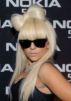 8 of Lady Gaga's Most Iconic Looks - Platinum Hair Bow